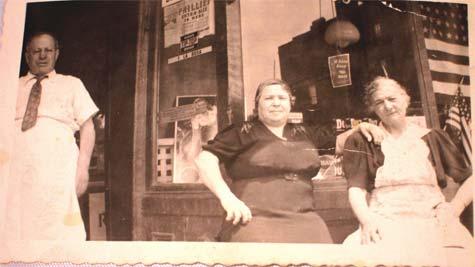 LaRosa's Market, July 26, 1942. My Great-Grandmother on the Avenue