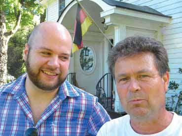 Austin Banach and Erhard Wendt at the Williamsville Inn