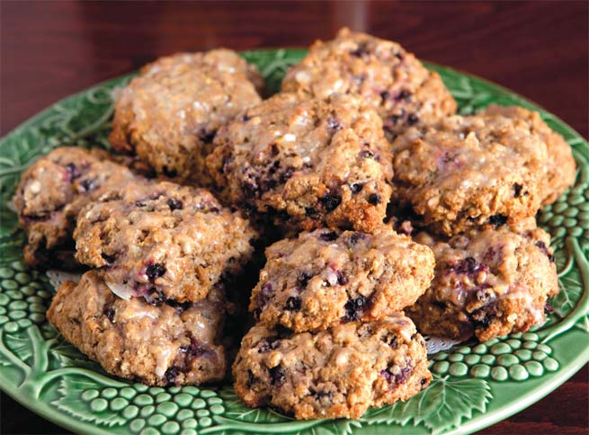 Blueberry-Lemon Einkorn-Oat Scones